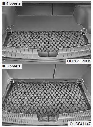 kia rio filet bagages si quip rangements caract ristiques du v hicule manuel du. Black Bedroom Furniture Sets. Home Design Ideas