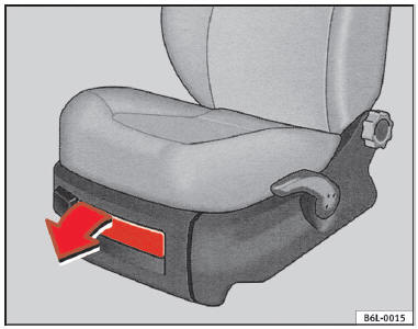 seat ibiza rangement si ges et porte objets utilisation manuel du conducteur seat ibiza. Black Bedroom Furniture Sets. Home Design Ideas