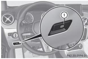 mercedes benz classe b frein de stationnement lectrique stationnement conduite et. Black Bedroom Furniture Sets. Home Design Ideas