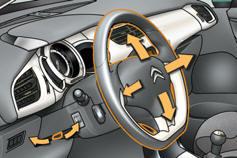 citro n c3 r glage du volant confort manuel du conducteur citro n c3. Black Bedroom Furniture Sets. Home Design Ideas