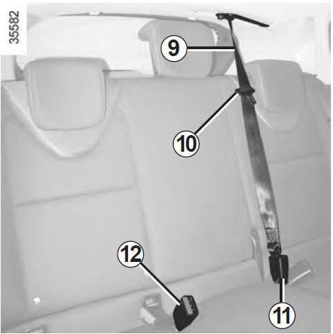 renault clio ceintures de s curit faites connaissance avec votre v hicule manuel du. Black Bedroom Furniture Sets. Home Design Ideas