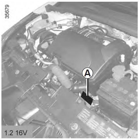 renault clio plaque d identification moteur caract ristiques techniques manuel du. Black Bedroom Furniture Sets. Home Design Ideas