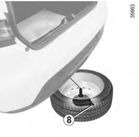renault clio crevaison roue de secours conseils pratiques manuel du conducteur renault clio. Black Bedroom Furniture Sets. Home Design Ideas